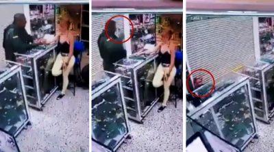 Estremece grabación de policía que se vuela la cabeza frente a su ex