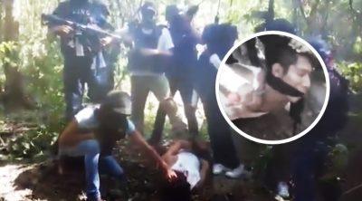 CJNG difunde macabra decapitación de presunto integrante de Los Zetas