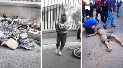 Difunden videos de brutal castigo a sicarios: los quemaron vivos en plena calle