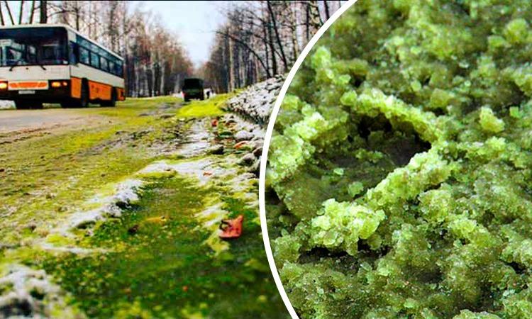 Cae nieve verde en Rusia y genera pánico en los pobladores