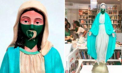 'Virgen proaborto': la escultura que genera polémica en redes