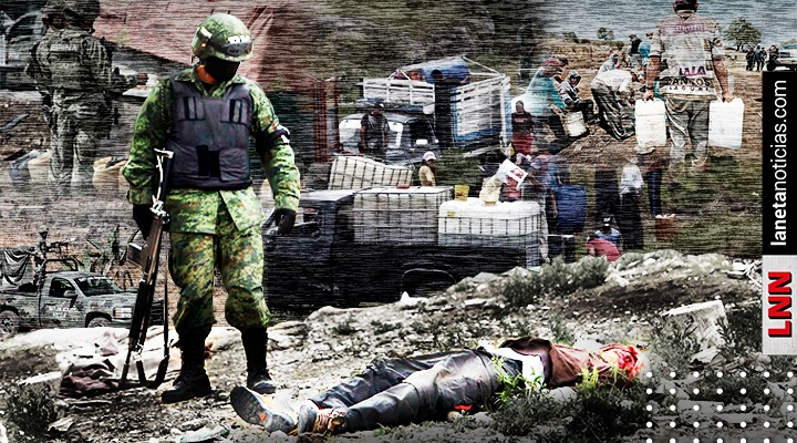 Acaban de matar a un güey: graban a militares en operativo antihuachicol