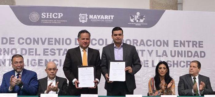 Echevarría y SHCP firman convenio en materia de combate a la corrupción