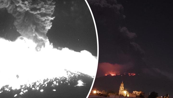 ¡Se cimbra Puebla! Popocatépetl explota y emite material incandescente (VIDEO)