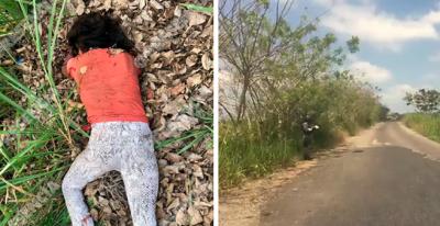 Hallan a jovencita degollada en carretera de Agua Dulce, Veracruz