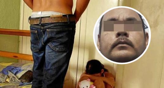 Detienen a enfermo que abusó de hijastra de 10 años mientras su madre no estaba