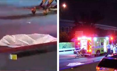 Mujer saca la cabeza del auto y muere arrollada; el conductor se dio a la fuga