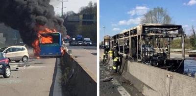 Chofer de autobús escolar incendia el vehículo con 51 estudiantes a bordo