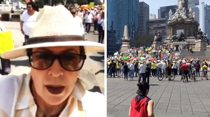 Destrozan a Laura Zapata en redes por unirse a marcha fifí contra AMLO