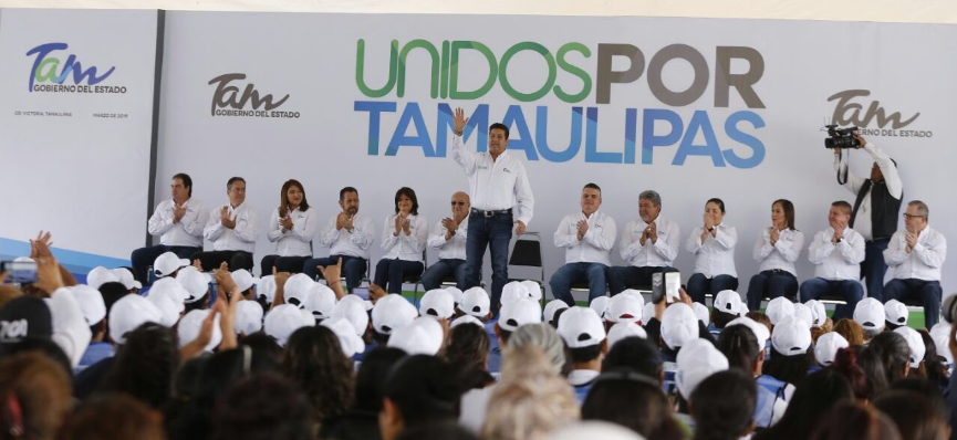 Francisco García encabeza arranque del programa Unidos por Tamaulipas