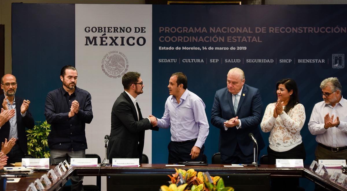 Cuauhtémoc Blanco y Gobierno de México firman convenio de reconstrucción por 19s