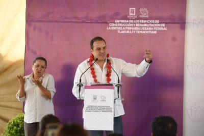 Cuauhtémoc Blanco encabeza entrega de edificios reconstruidos tras 19s