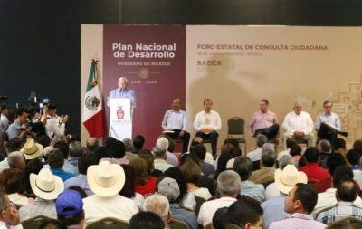 Sader celebra participación de ciudadanos en tercer foro del PND en Mazatlán