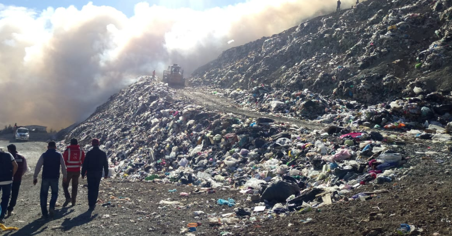 Alejandro Tello reconoce a trabajadores por sofocar incendio en Guadalupe