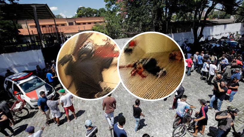 Circulan crudas imágenes de balacera en una escuela; atacantes se suicidaron
