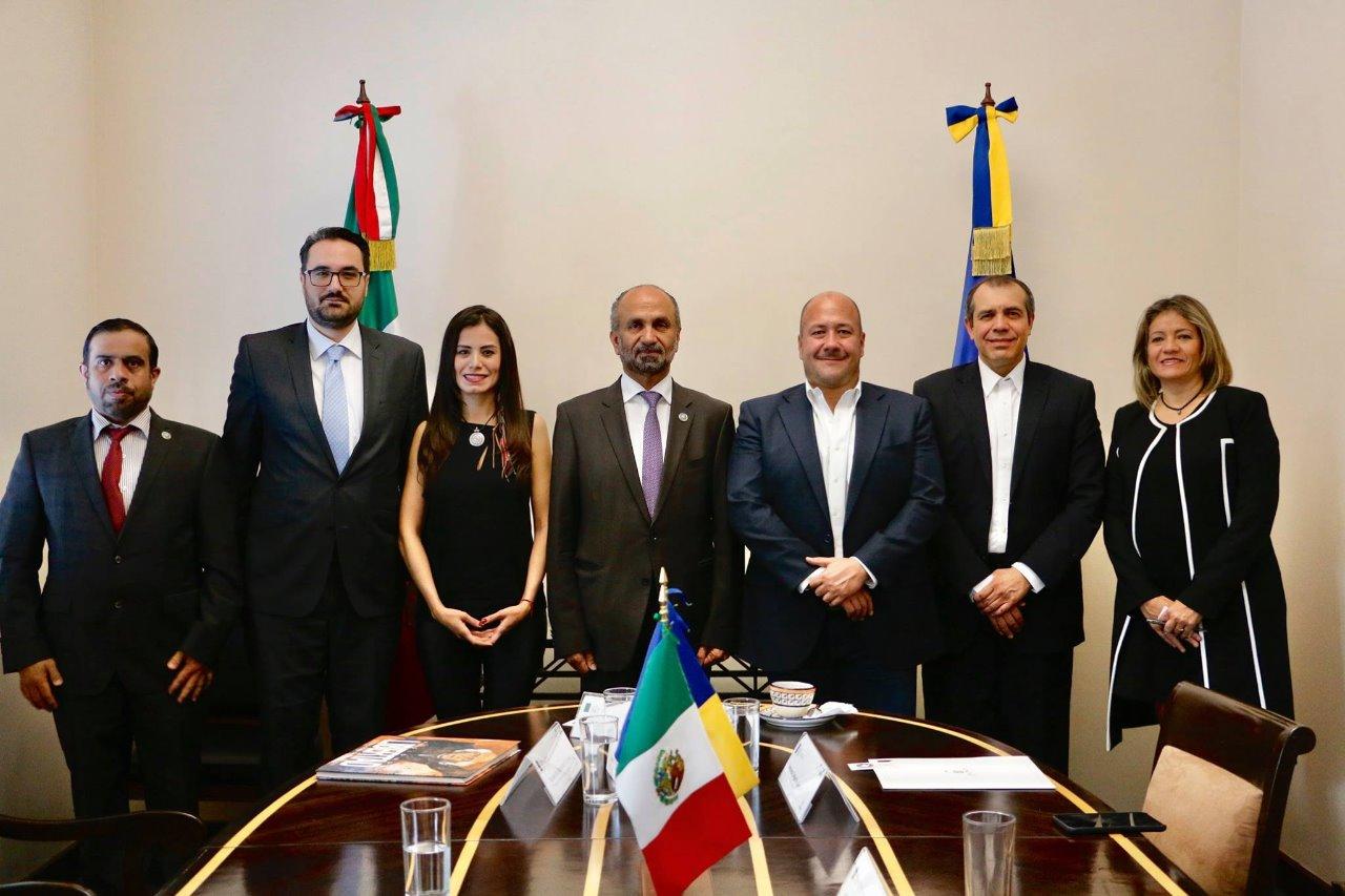 Enrique Alfaro sostiene reunión con Consejo Global de Tolerancia y Paz en CDMX