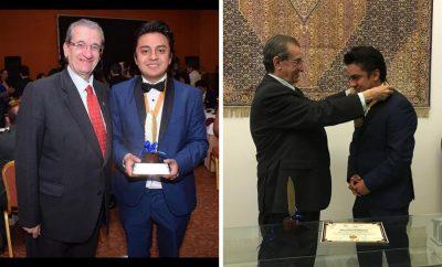 Distinguen a Director de Exclusivas Puebla con premios Pluma y Eslabón de Oro