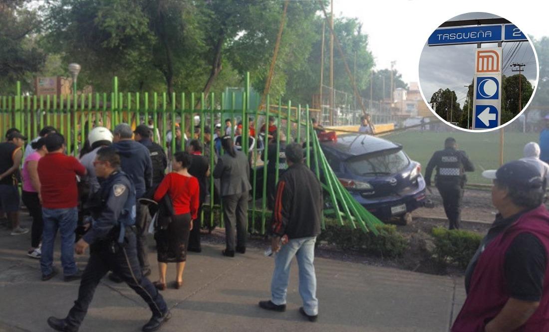 Publican video de auto que arrolló a varias personas en Taxqueña
