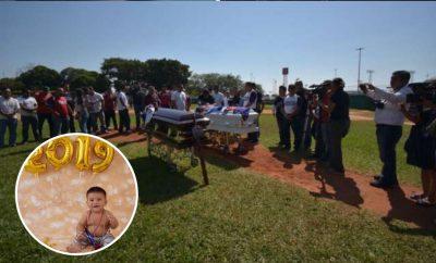 Así fue el triste funeral de padre y bebé asesinados en Minatitlán