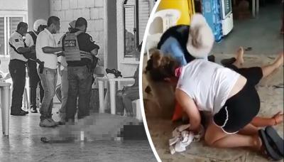 No, no te vayas: turista grita a esposo moribundo tras ataque en zona hotelera