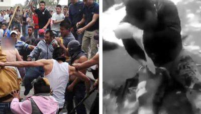 Difunden sangriento castigo contra presunto ladrón en Cuautitlán (VIDEO)