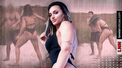 Luchadora de MMA da golpiza a depravado en plena sesión fotográfica