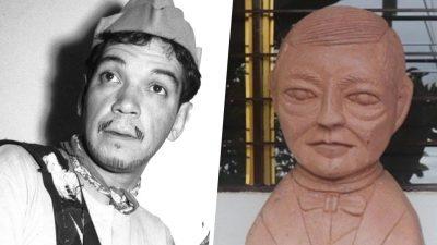¡Otro! Autor del busto 'alien' de Benito Juárez hizo uno de Cantinflas