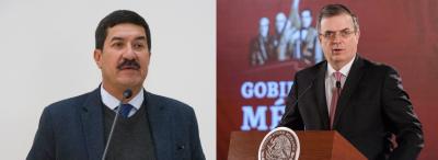 Corral se reúne con Ebrard; presenta informe sobre crisis en la frontera
