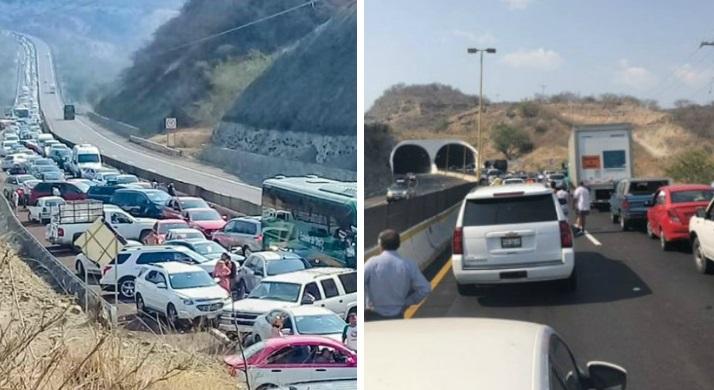 Alertan por asalto masivo en la autopista México-Acapulco