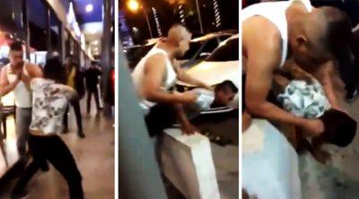 Arranca un pedazo de oreja a su oponente en brutal pelea callejera (VIDEO)