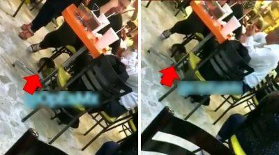 Exhiben a pareja echando la torta mientras su hija duerme en el suelo