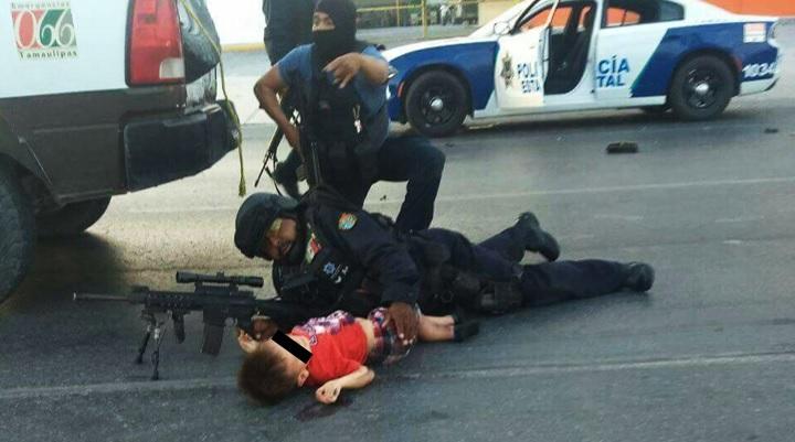 La increíble historia de policía cubriendo a niño durante balacera en Reynosa
