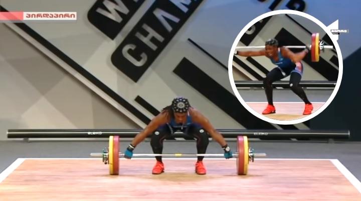 Atleta se rompe el brazo en plena competencia tras intentar cargar 107 kilos