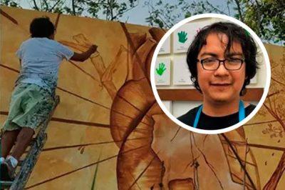 Hombres armados asesinan al muralista Héctor Domínguez