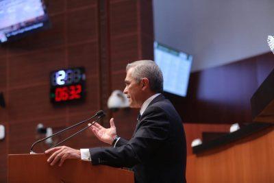 Mancera, en desacuerdo con trabajadores outsourcing en Senado