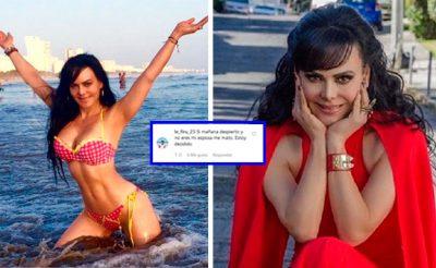 Sorprende con amenaza suicida a Maribel Guardia en redes; lo manda a friendzone