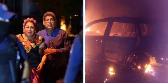 ¿Qué pasó con los autos donde viajaban los sicarios de la masacre de Minatitlán?
