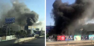 Potente incendio desata las alarmas entre automovilistas en la México-Toluca