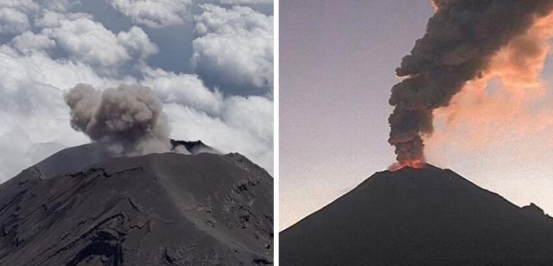 Alertan sobre 54 exhalaciones del Popocatépetl en últimas horas