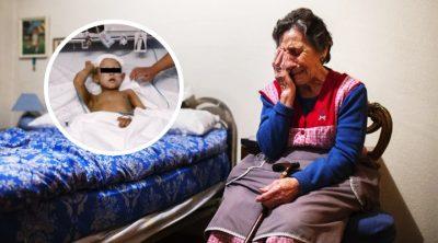 Abandonan a hijo desahuciado con la abuela; la mujer pide ayuda entre lágrimas