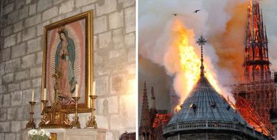 Capilla de la Virgen de Guadalupe en Notre Dame quedó intacta tras incendio