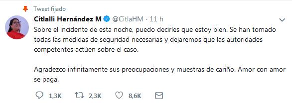 Las palabras de AMLO en mañanera tras atentado contra Citlalli Hernández