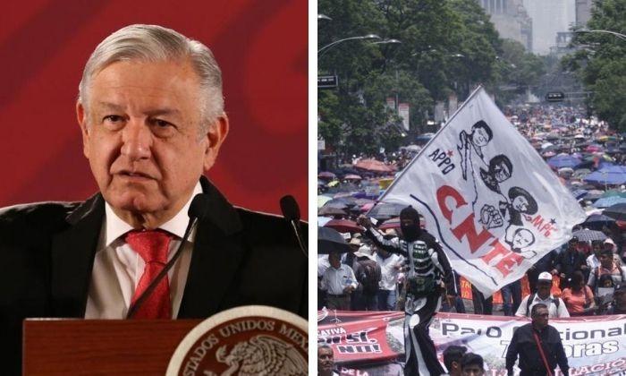 CNTE llega acuerdo con AMLO: pagarán salarios caídos a maestros cesados. Noticias en tiempo real