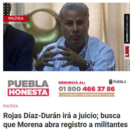 Rojas Díaz-Durán impugnación Morena