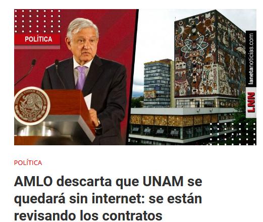 SCT afirma que la UNAM estaba enterada sobre cancelación de contrato de internet