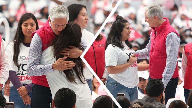 Alfredo del Mazo entrega tarjetas de Salario Rosa a más de 7 mil mexiquenses. Noticias en tiempo real