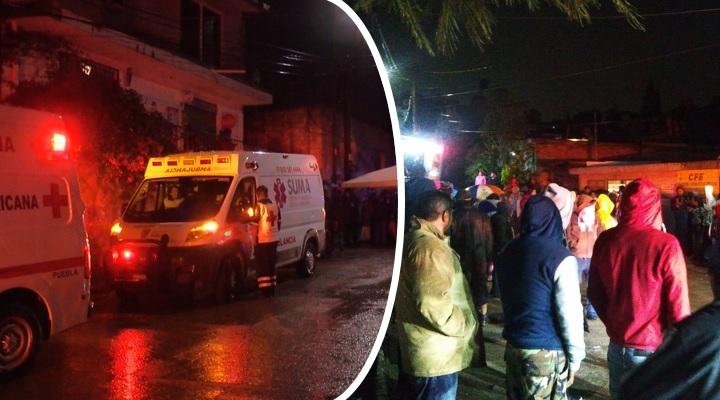 Fiesta termina en tragedia: derrumbe en Puebla deja al menos 6 muertos