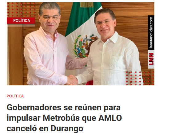 AMLO Durango proyectos