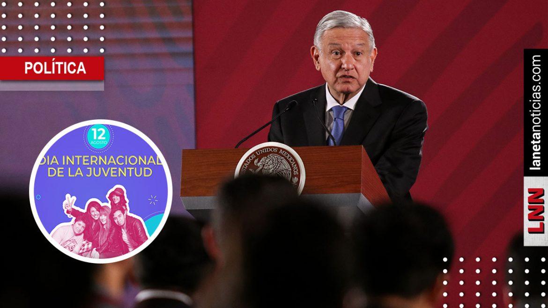 AMLO celebra el Día de la Juventud; destinará 300 mil mdp para este sector
