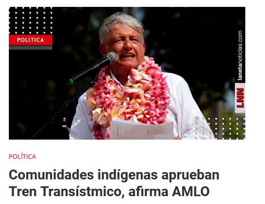 AMLO conmemora el Día de los Pueblos Indígenas; recibe bastón de mando